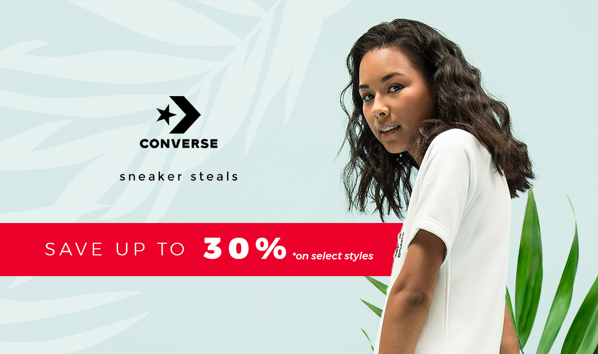 Converse - Sneaker Steals - Save up to 30%* on select styles