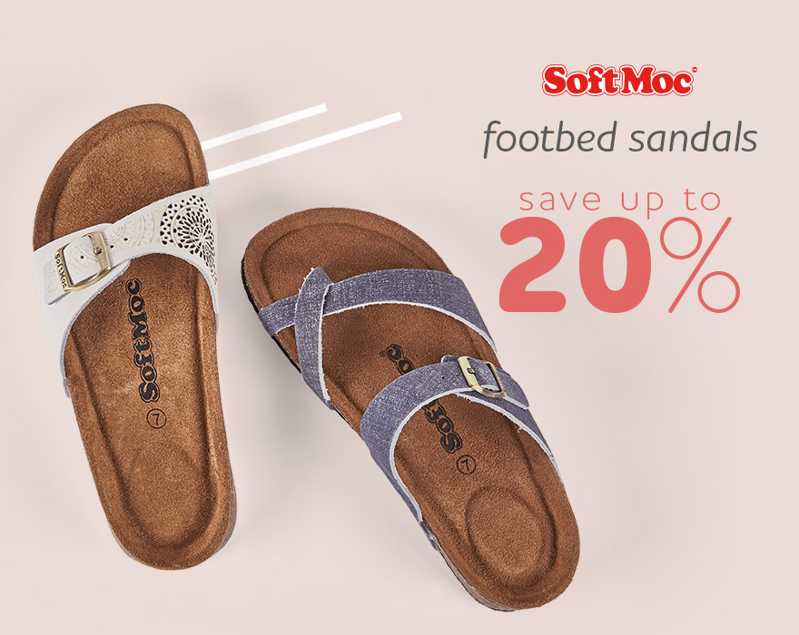 Footbed Sandals - Save up to 20%