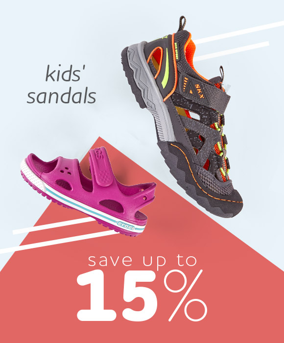 Kids' Sandals - Save up to 15%