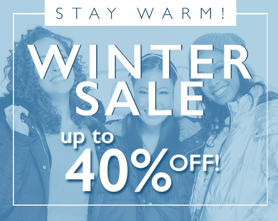 Stay Warm! Winter Sale - Up to 40% Off!