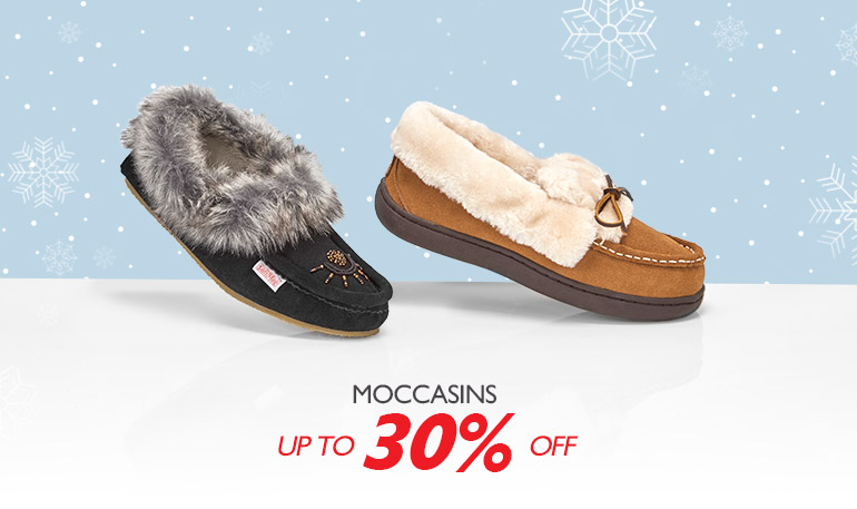 Moccasins - Up to 30%