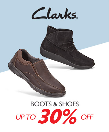 Clarks - Boots & Shoes - Up to 30%