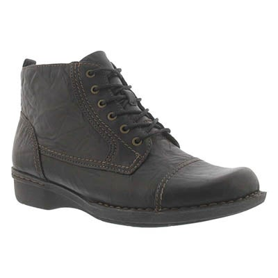 Clarks Women's WHISTLE VINE blk casual ankle boots - Wide