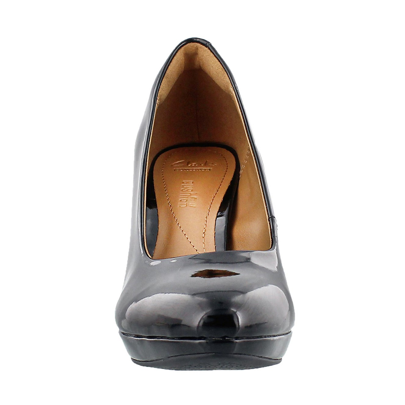 Lds Brier Dolly black patent dress heel