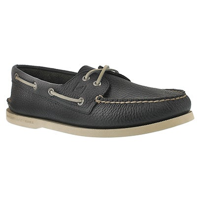 Sperry Men's AUTHENTIC ORIGINAL navy leather boat shoes