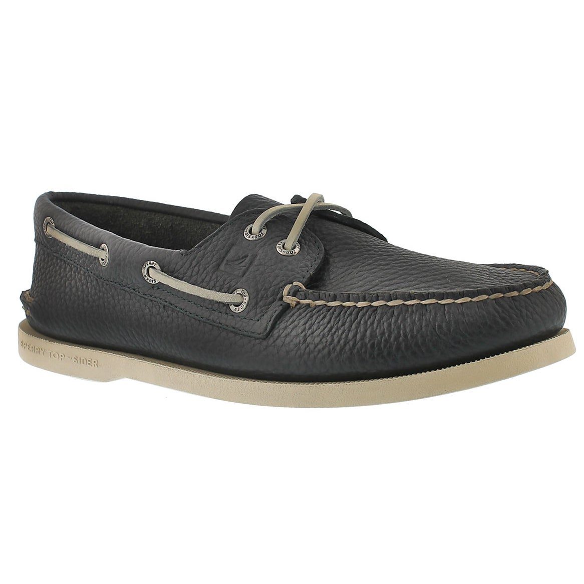 Men's AUTHENTIC ORIGINAL navy leather boat shoes