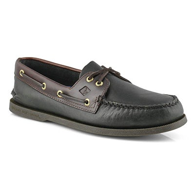Sperry Men's AUTHENTIC ORIGINAL black/amaretto boat shoes