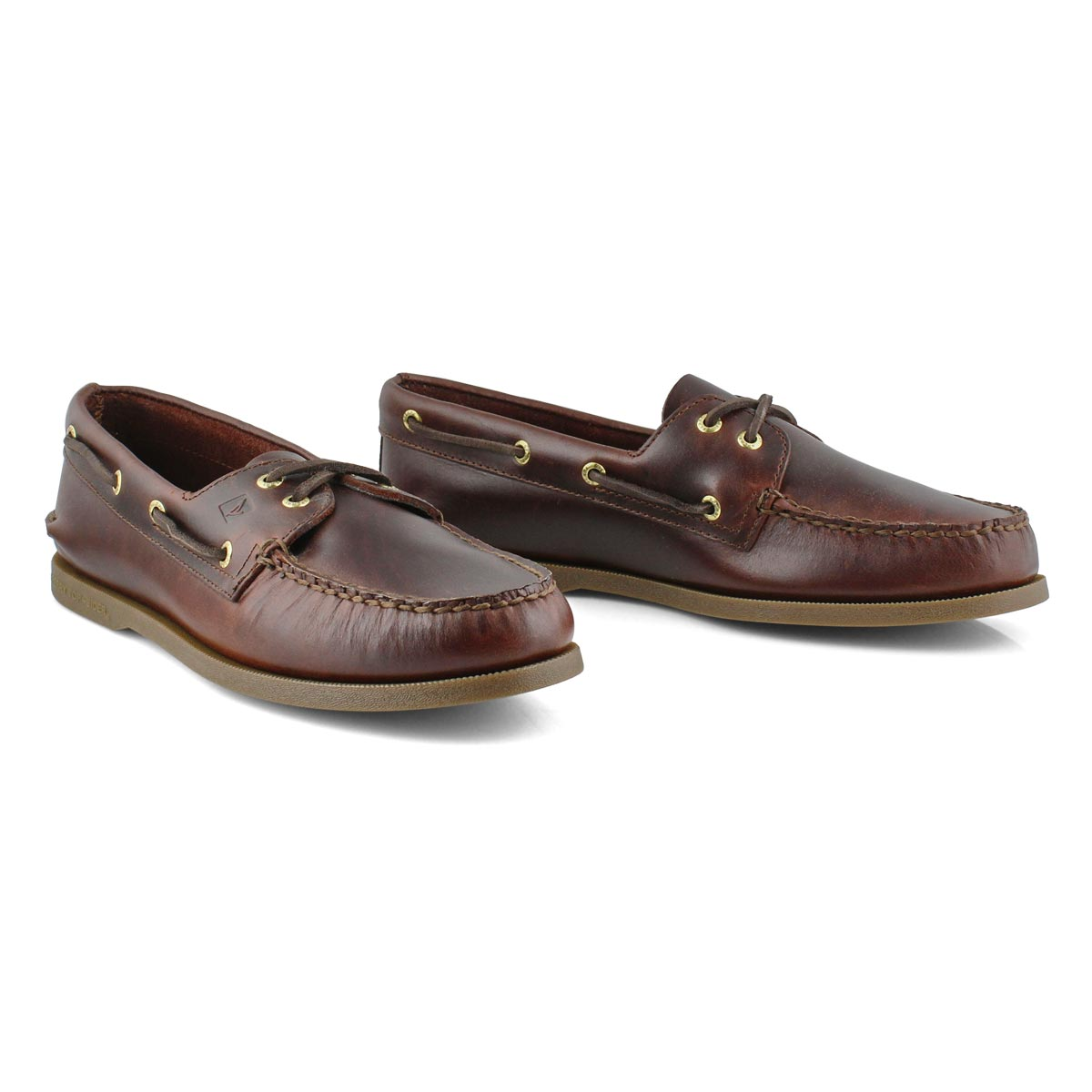 Mns A/O 2-eye amaretto boat shoe