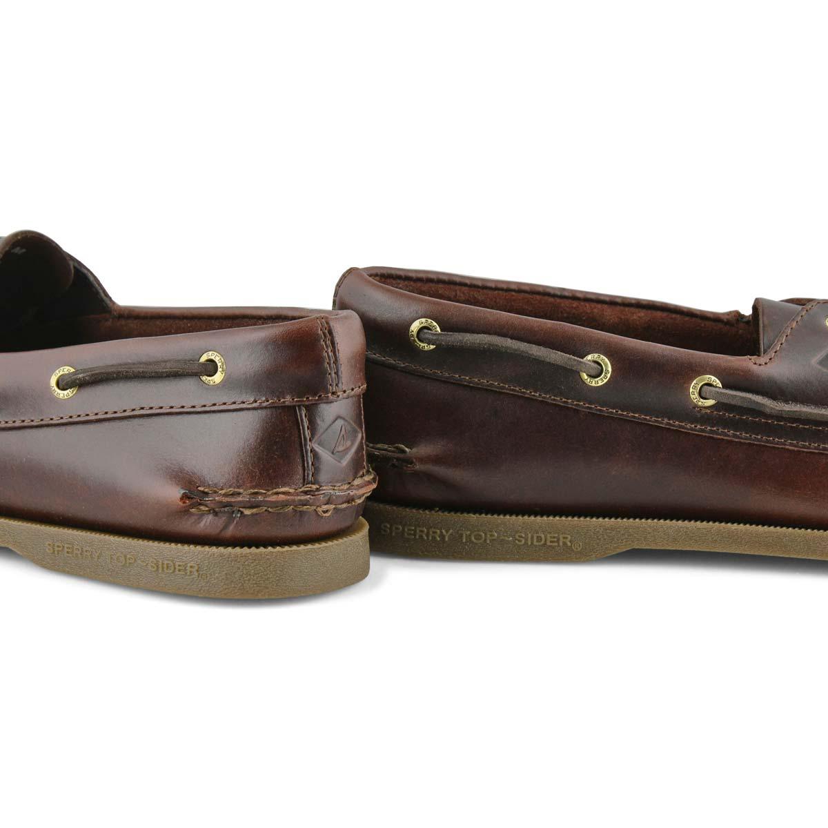 Mns A/O 2-eye amaretto boat shoe