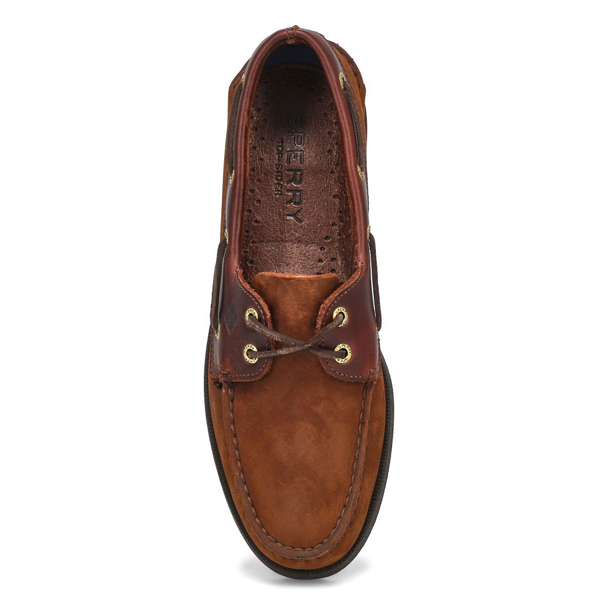 Mns A/O 2 eye brown boat shoe
