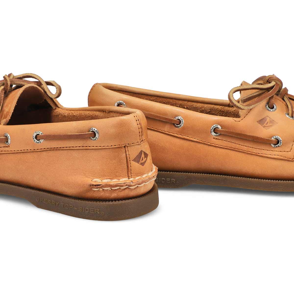 Mns A/O 2 eye sahara brn boat shoe