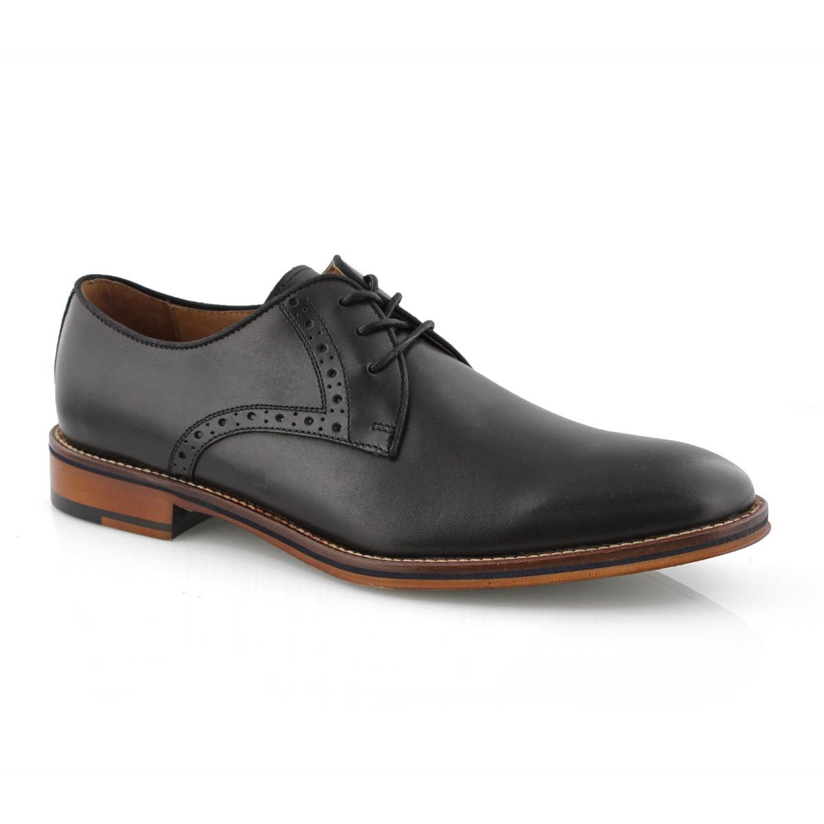 MXL Mens Business Shoes Matte PU Leather Upper Slip-on Lined Oxfords Block Heel Driving Shoes