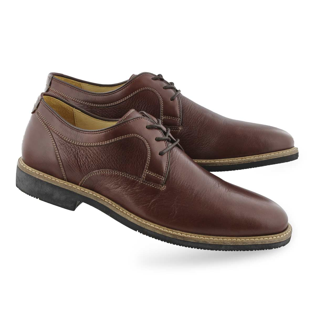 Mns Barlow Plain Toe tobaco dress oxford