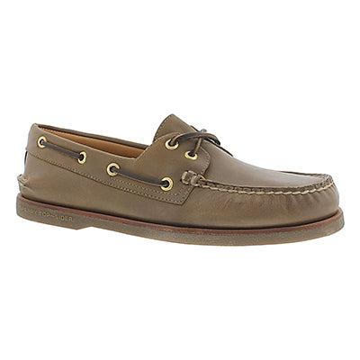 Mns Gold A/O 2-Eye dark tan boat shoe