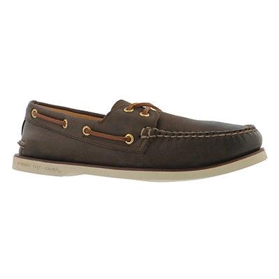 Mns Gold A/O 2-Eye brown boat shoe