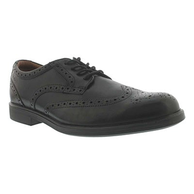 Clarks Men's GABSON LIMIT black lace-up dress shoes