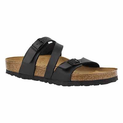 Lds Salina BF blk 3 strap sandal
