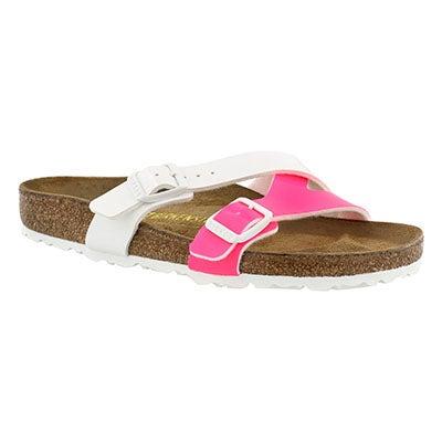Lds Yao neon pnk/wht BF sandal
