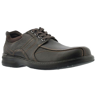 Clarks Men's SHERWIN LIMIT brown leather oxfords