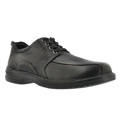Clarks Men's SHERWIN LIMIT black leather oxfords