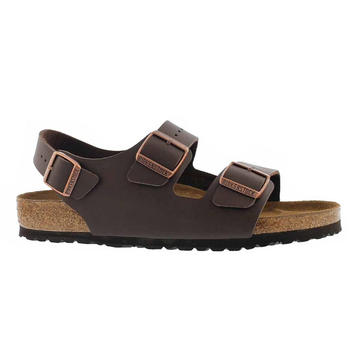 Sandale 3 sangles Milano BF, brun, hom