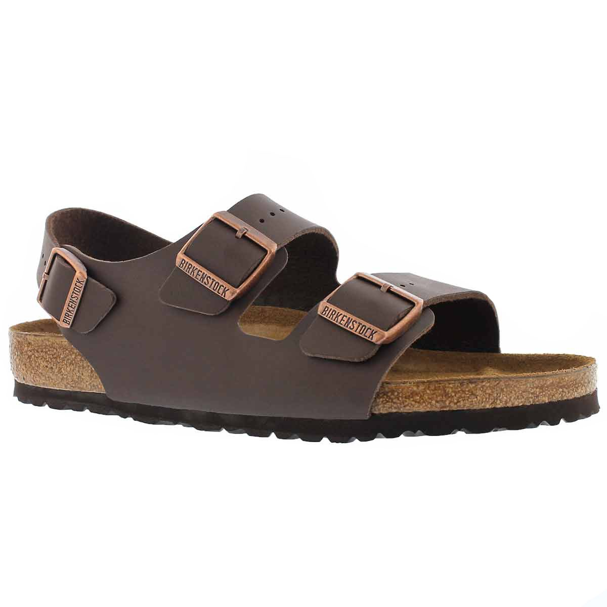 Men's MILANO BF brown 3 strap sandals