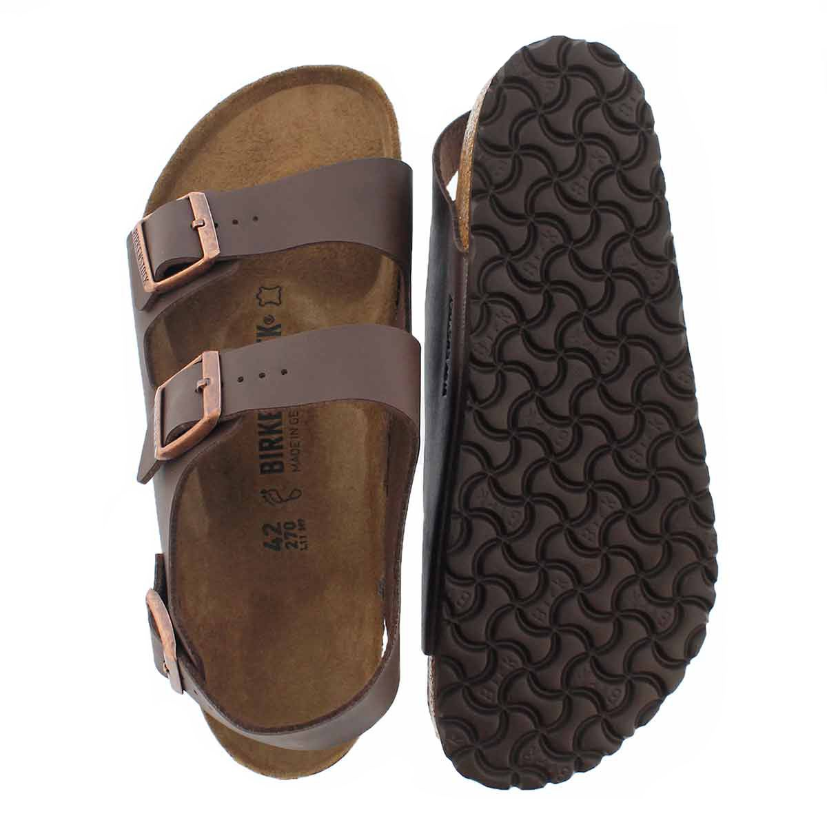 Lds Milano BF brown 3 strap sandal