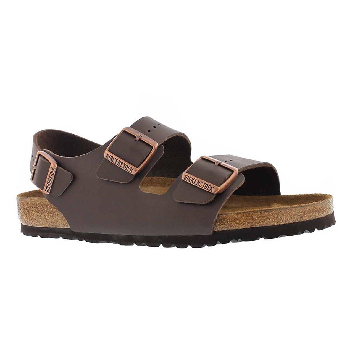 Women's MILANO BF brown 3 strap sandals