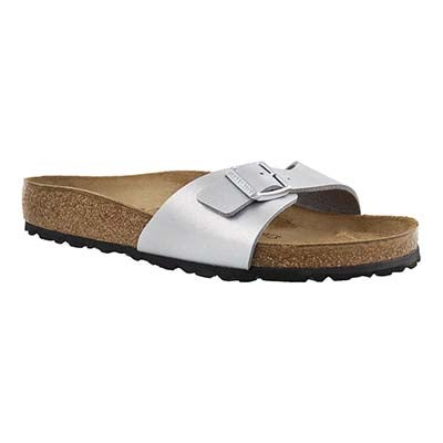 Lds Madrid BF silver 1 strap sandal