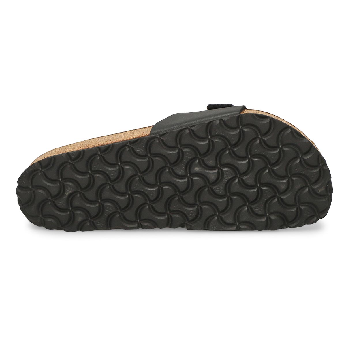 Lds Madrid black 1 strap sandal