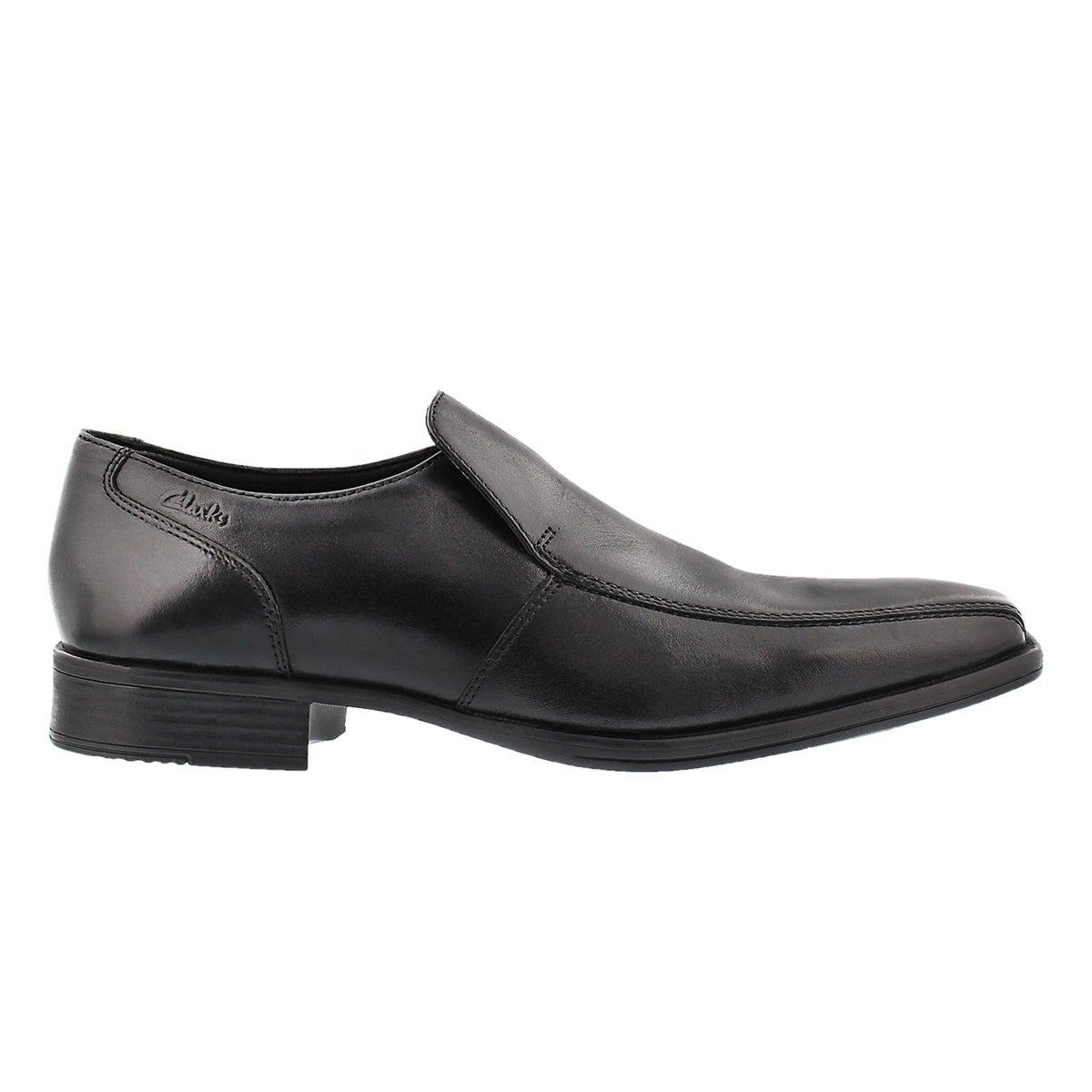 Mns Flenk Step blk slip on dress shoe