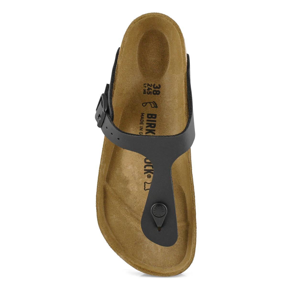 Sandales tongs Gizeh, noir, fem