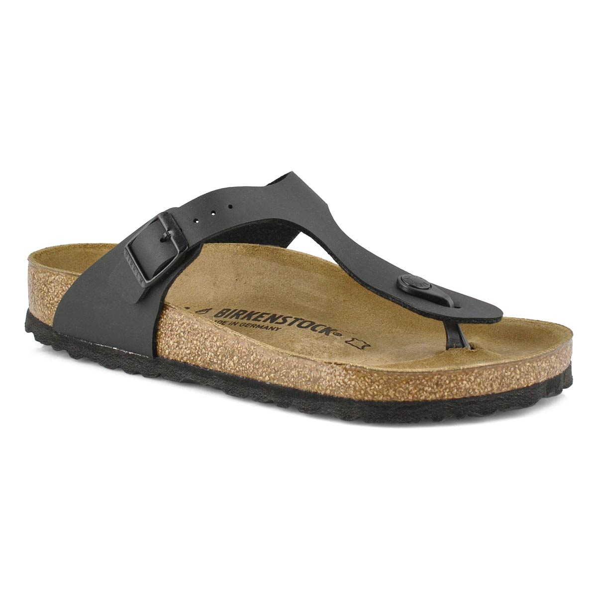 Lds Gizeh blk thong sandal