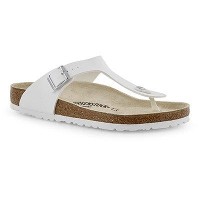Mns Gizeh BF wht thong sandal
