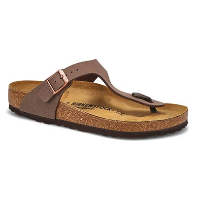 Birkenstock Women's GIZEH mocha thong sandals
