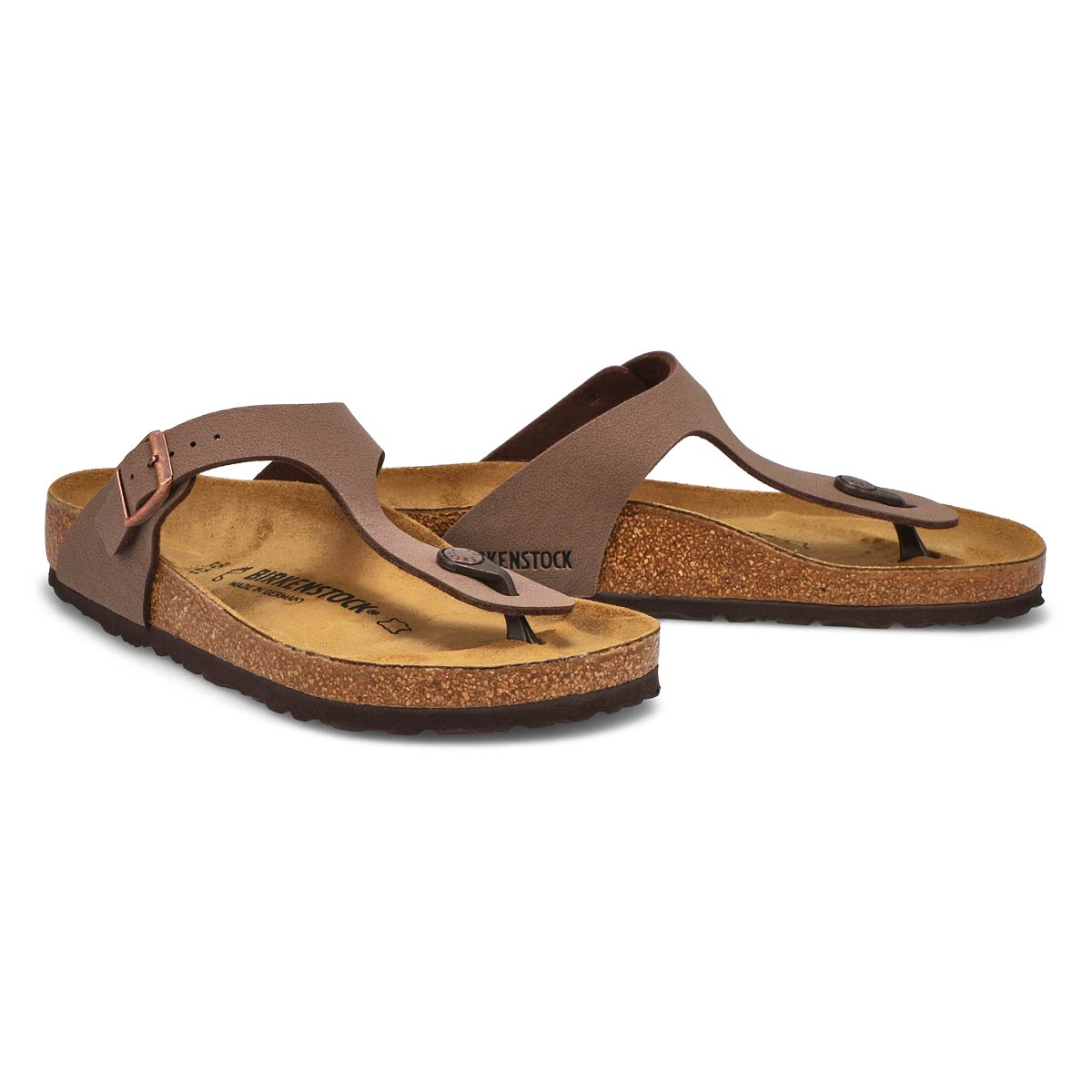 Women's GIZEH mocha thong sandals