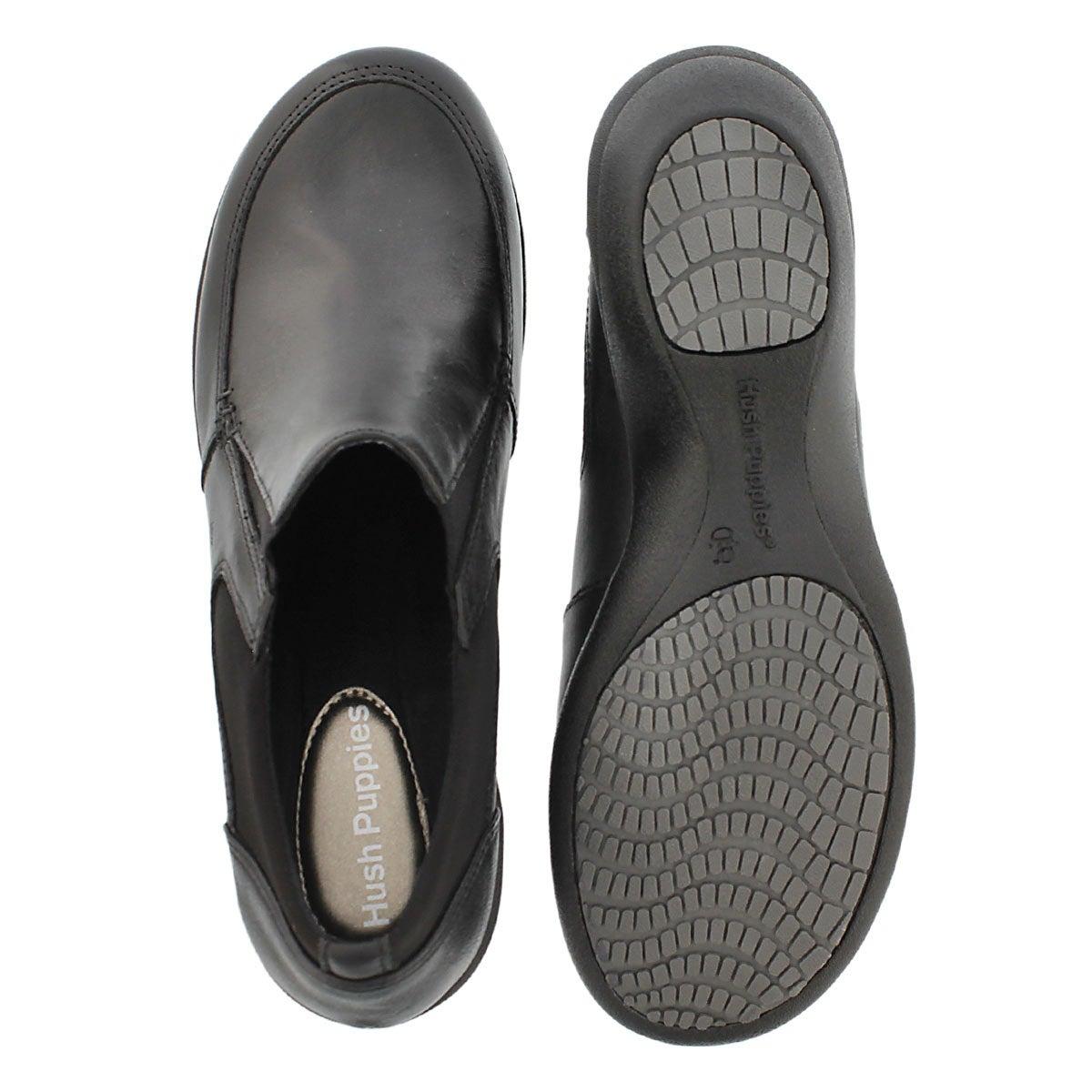 Lds Jessa Kana black slip on dress wedge
