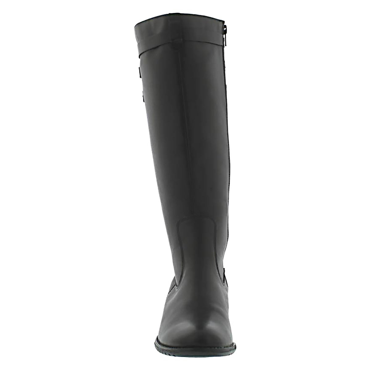 Lds Leslie blk tall WP leather boot