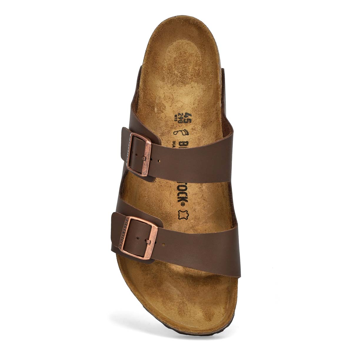 Mns Arizona brown 2 strap sandal