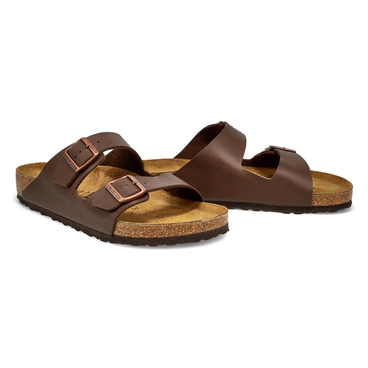 Mns Arizona BF brown 2 strap sandal