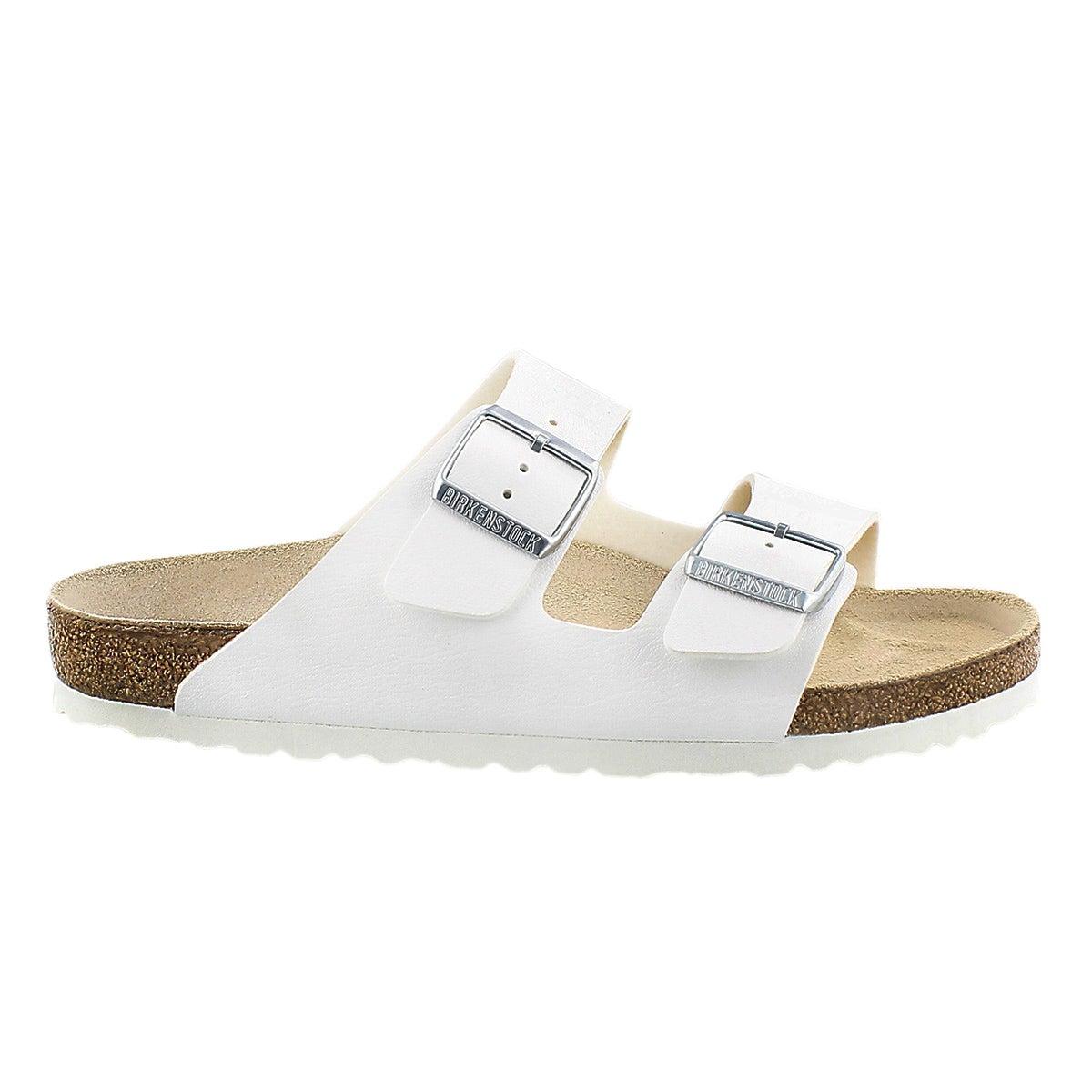 Lds Arizona wht 2 strap sandal
