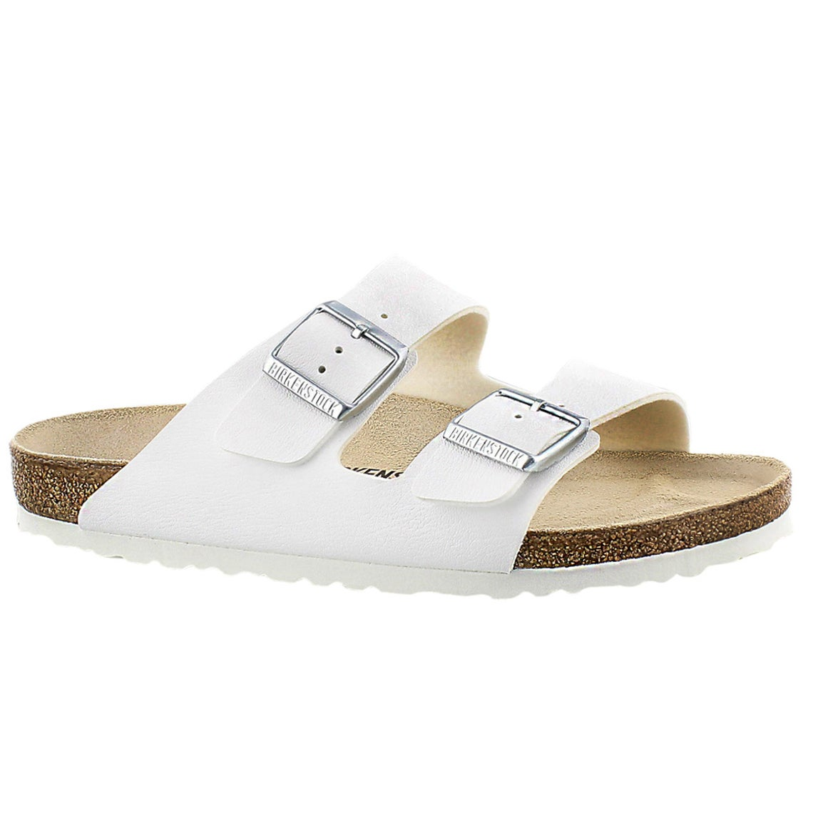 Women's ARIZONA white 2 strap sandals
