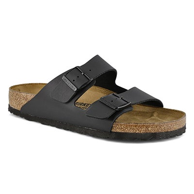 Birkenstock Men's ARIZONA black 2 strap sandals