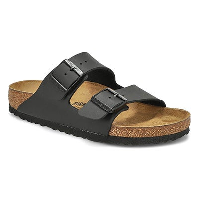 Women's ARIZONA black 2 strap sandals