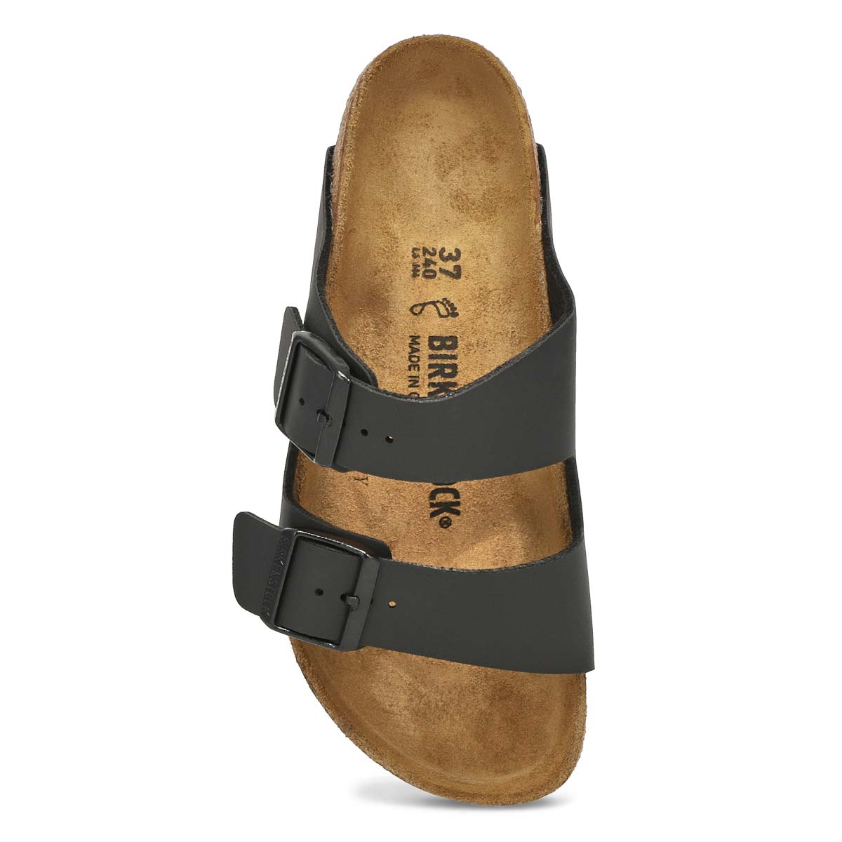 Lds Arizona black 2 strap sandal