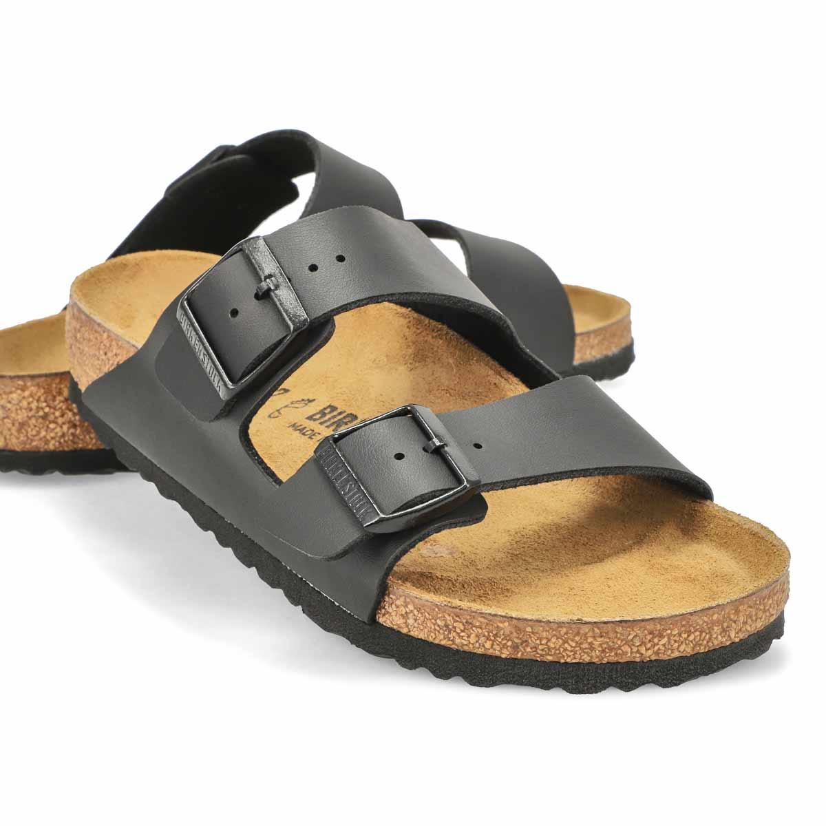 Lds Arizona BF black 2 strap sandal