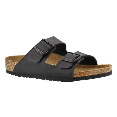 Birkenstock Kids' ARIZONA black 2 strap sandals - Narrow