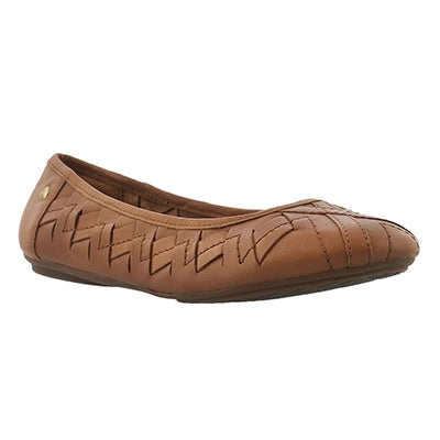Hush Puppies Women's EMMALINE CHASTE tan woven flats