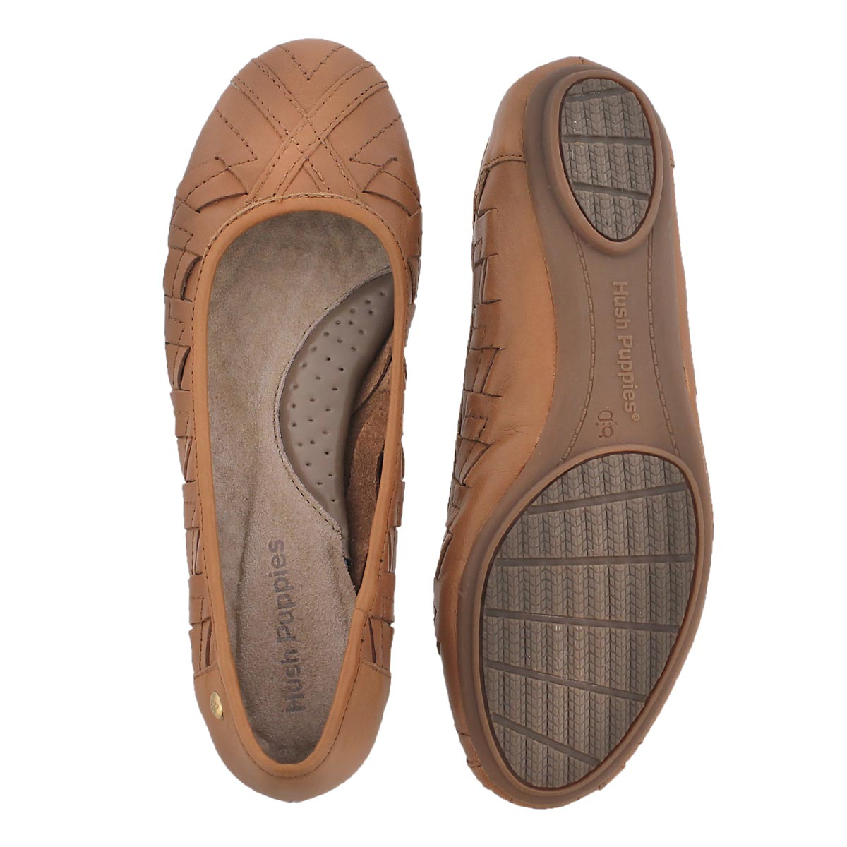 Lds Emmaline Chaste tan weaved flat
