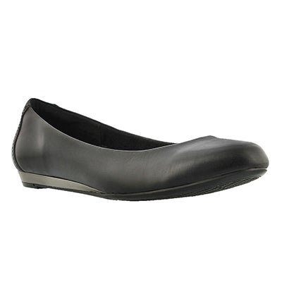 Lds Torey Ballentine black leather flat